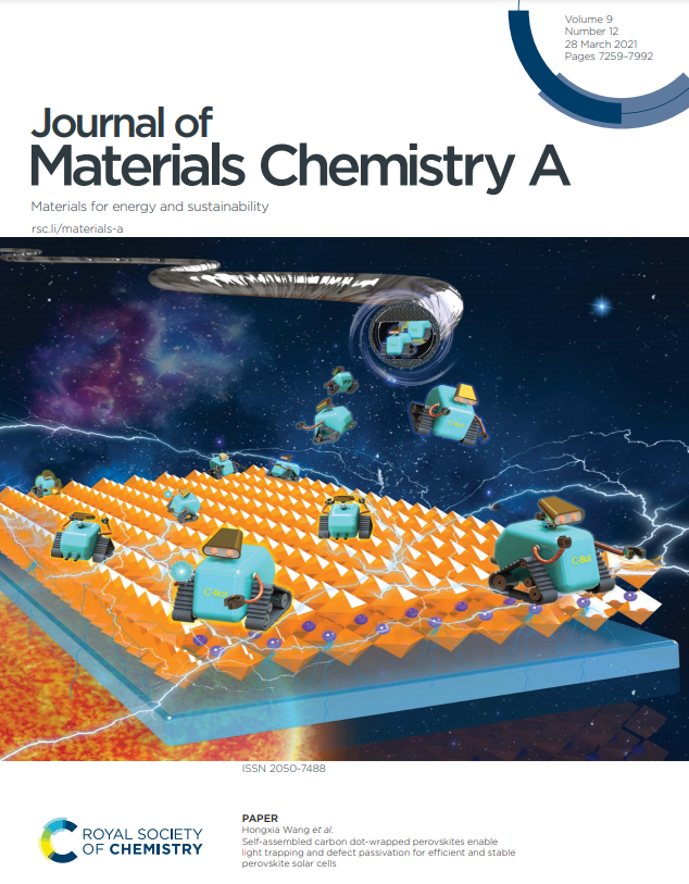 Journal of Material Chemistry A – Front cover